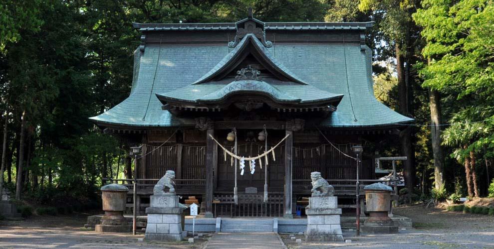 茨城の鹿嶋八幡神社(額田神社)拝殿